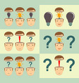 thoughtful young businessman start up concept vector image vector image