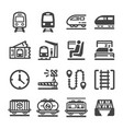 train icon set vector image