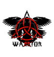 viking silhouette warrior 0003 vector image