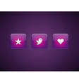 Web site buttons vector image vector image