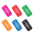 colourful ticket set3 vector image