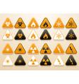 Set of warning signs vector image