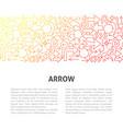 arrow line design template vector image vector image