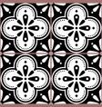 azulejo tiles seamless black pattern vector image vector image