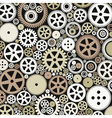 Background of gears vector image vector image