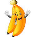 bananas with face vector image vector image