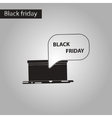 black and white style icon gift box Black Friday vector image vector image