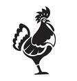 Black chiken vector image vector image