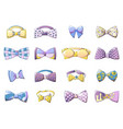 bowtie icons set cartoon style vector image vector image