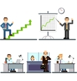 businessman people in the office vector image vector image