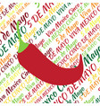 cinco de mayo jalapeno pepper on the background vector image vector image