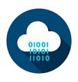 cloud computing binary circle icon vector image