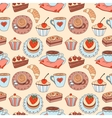 Coffee seamless cartoon pattern vector | Price: 1 Credit (USD $1)