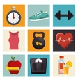 collection fitness sport equipment icons vector image vector image