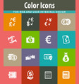 currency exchange icons set vector image vector image