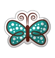 cute butterfly decorative icon vector image