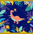 cute dinosaur background vector image