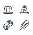 desserts candies line icons linear set quality vector image vector image