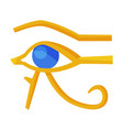 eye horus egypt deity eye ra egyptian vector image