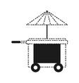 food trucks design vector image vector image