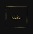 frame-empty-gold-black-one vector image
