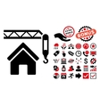 Home Construction Flat Icon with Bonus vector image vector image