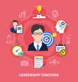 leadership coaching concept vector image vector image