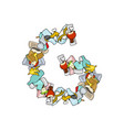 letter g rubbish trash font garbage alphabet vector image vector image
