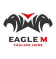 logo 2 eagle head initials m vector image