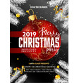 merry christmas party promotional poster vector image