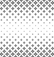 Monochrome seamless curved star pattern vector image vector image