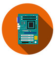 motherboard and mainboard icon in flat style vector image vector image