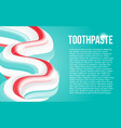 multicolored squeezed toothpaste background vector image vector image