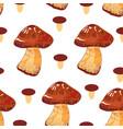 mushroom pattern vector image vector image