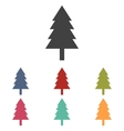 New year tree icons set vector image