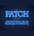 patch letters set bold latin alphabet vector image