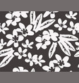 Pattern with tropical plumeria flowers and leaves