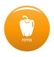 pepper icon orange vector image vector image