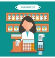 Pharmacist Concept Flat Design vector image vector image