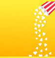 popcorn falling from round box movie cinema icon vector image vector image
