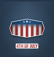 realistic 4th of july independence day banner vector image vector image