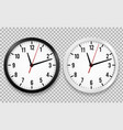 realistic office clock wall round watches vector image vector image