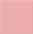 red chequered tablecloth texture repeatable vector image
