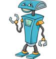 robot cartoon character vector image vector image