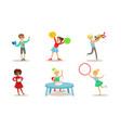 school children hobbies set teenagers boys and vector image vector image