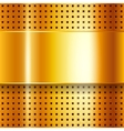 Scratched on gold chrome background vector image vector image