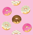 seamless donuts pattern vector image vector image