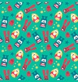 seamless pattern with cute color monsters vector image vector image