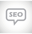 SEO grey message icon vector image vector image