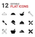 serving icons vector image vector image